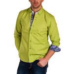 Pánská zelená košile BINDER DE LUXE