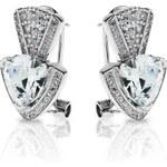 Meucci Luxusní stříbrné náušnice se zirkony