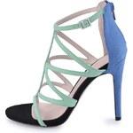 Modro-mentolové páskové sandály ALDO Sevelalla