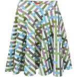 Bílá sukně s barevnými proužky Skunkfunk Amelia