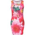 Růžové šaty s květinovým potiskem a kamínky Culito from Spain