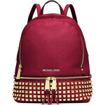 Batoh Michael Kors Rhea studded small cherry gold