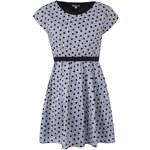 Černo-bílé vzorované šaty s puntíky Kling Mirano