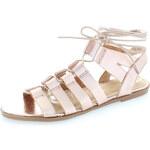 Tom&Eva Zlato-růžové sandály Cristu
