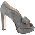 Twin set Lodičky CTA2VA Open Toe Women Leather Grey Twin set