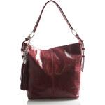 Červená lesklá kožená kabelka přes rameno ItalY Cameron červená