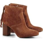 Esprit Elegantní boty s třásněmi, ze semiše