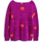 Esprit Flaušový pulovr se vzhledem angorské vlny
