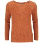 Oranžový svetr proplétaný třpytivou nití VILA Frozen
