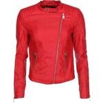 Červená koženková bunda Haily´s Berry