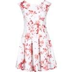 Bílé šaty s červenými květy Closet