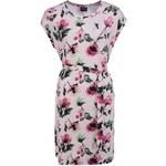 Světle růžové květované šaty VILA Mate