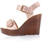 Béžové platformové sandály XTI 45899