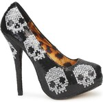 Iron Fist Lodičky DIGI SKULL SEQUIN PLATFORM Iron Fist