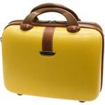 Kosmetický kufr Dielle 255-B-37 hořčicová