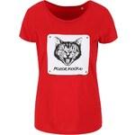 Červené dámské tričko ZOOT Originál Cat