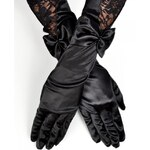 Corset Story Saténové rukavičky s krajkou