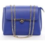 Delami Vera Pelle Dámská kožená kabelka přes rameno Sea modrá