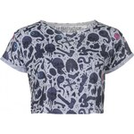 Jilted Generation All Over Print Slouch Top Ladies, chophouse white