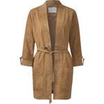 Street One - Longue veste en cuir véritable Cara - smooth cognac