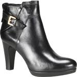 Cafe Noir Kožené kotníkové boty na podpatku