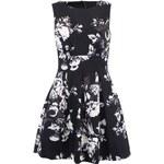 Černé šaty s bílými květy Closet