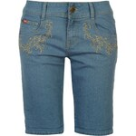 Lee Cooper C Embroidered Pocket Shorts Ladies, light wash