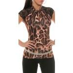 Koucla Dámský top DT18445LEO - leopard