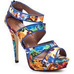 Modré sandálky na podpatku Timeless Oden - 40