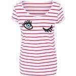 Červeno-bílé pruhované tričko Alchymi Ruby