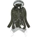 Go-Start Jarní dámská bunda asymetrická khaki (5501)