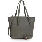 LS fashion LS dámská kabelka 315 zipper šedá