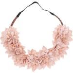 Růžová elastická čelenka s květinami Vero Moda Daisy