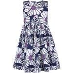 Blue Seven Dívčí šaty Jeansblue - modro-bílé
