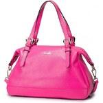 NUCELLE kožená kabelka Leila růžová