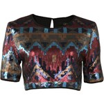 Rock and Rags Sequin Womens Crop Top, multi