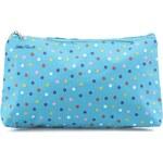 Modrá kosmetická taštička s barevnými puntíky Helio Ferretti Dots