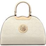Moda Handbag Krémová kabelka do ruky s ornamentem K2707