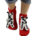 Lesara 3D-Socken mit Strick-Tieren - Weiß - 35-38