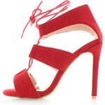 United Fashion Červené sandály Lusid