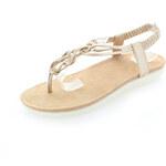 United Fashion Zlaté sandály Orvia