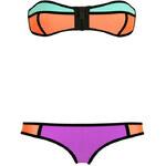 Lesara Bikini mit Reißverschluss - Orange - S