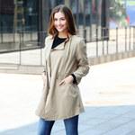 Lesara Trenchcoat mit elastischem Taillenbund - Beige - S
