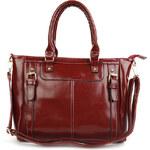 Lesara Handtasche in Glanzleder-Optik - Rot