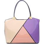 Moda Handbag Fialovo-béžovo-růžová kabelka do ruky A34178