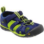 KEEN Dětské sandály Seacamp II CNX Blue Depths/Lime Green 27-28