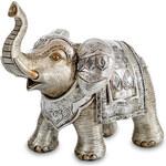 ELEPHANT dekorativní soška SLON stříbrný 15X8X14 cm Mybesthome