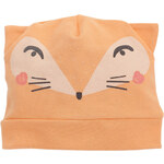 Pinokio Dětská čepice s liškou - oranžová