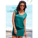 BEACH TIME Dlouhé dámské tričko, Beachtime petrolejová