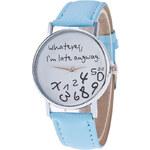 Lesara Armbanduhr mit Spruch auf dem Zifferblatt - Blau